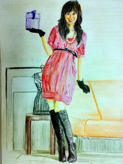 Lady (Colour Pencil Drawing)