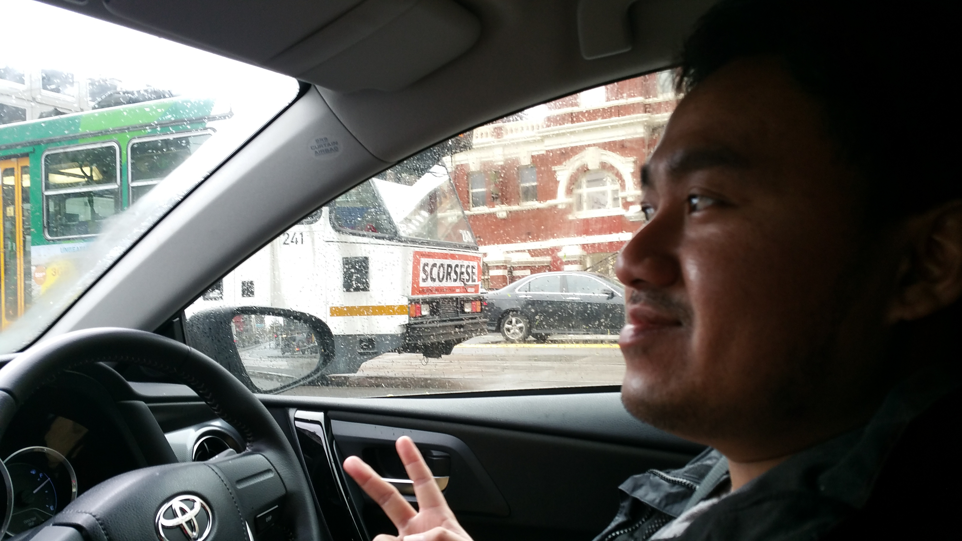 Jay Chua driving at Melbourne City