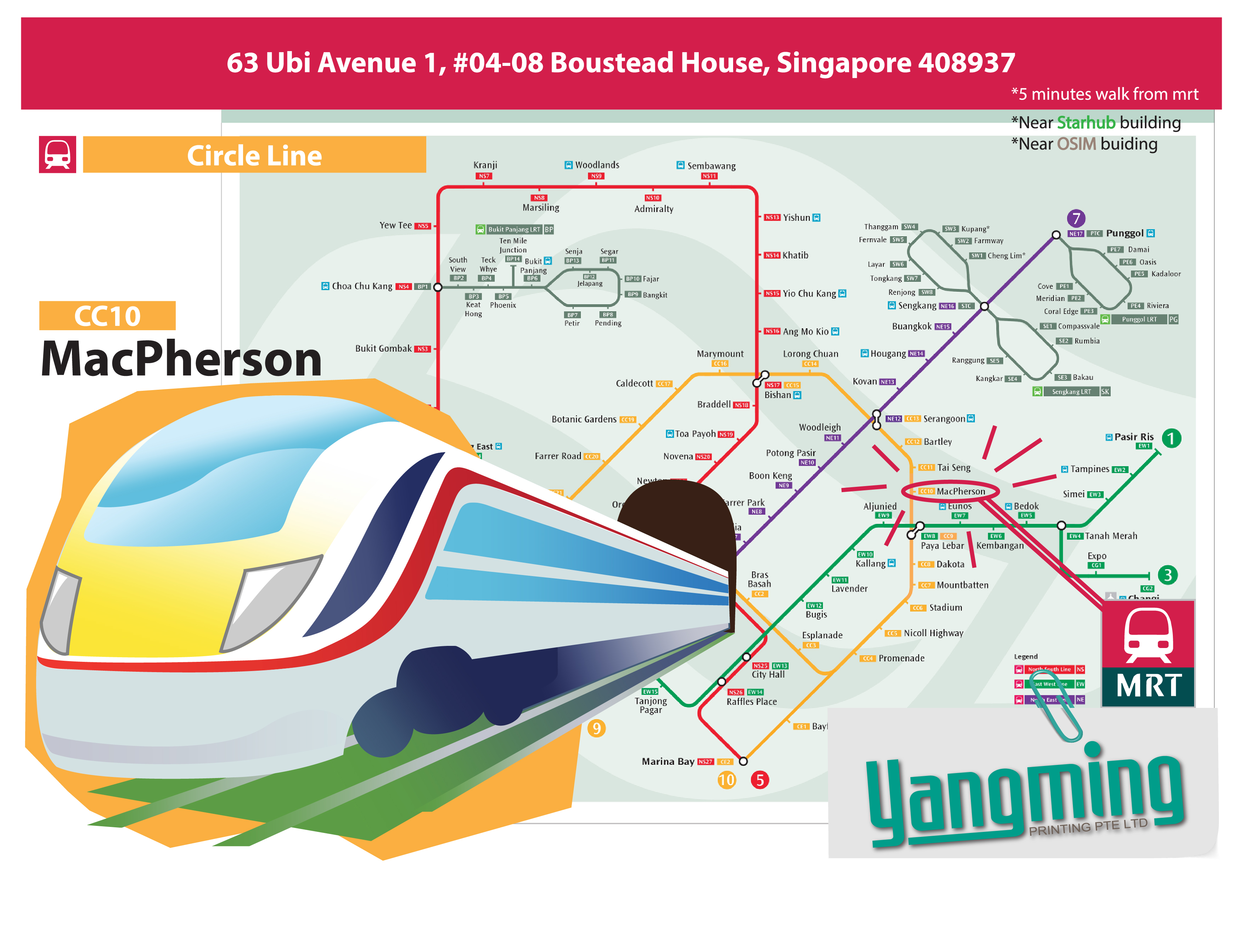 Location / MRT Map
