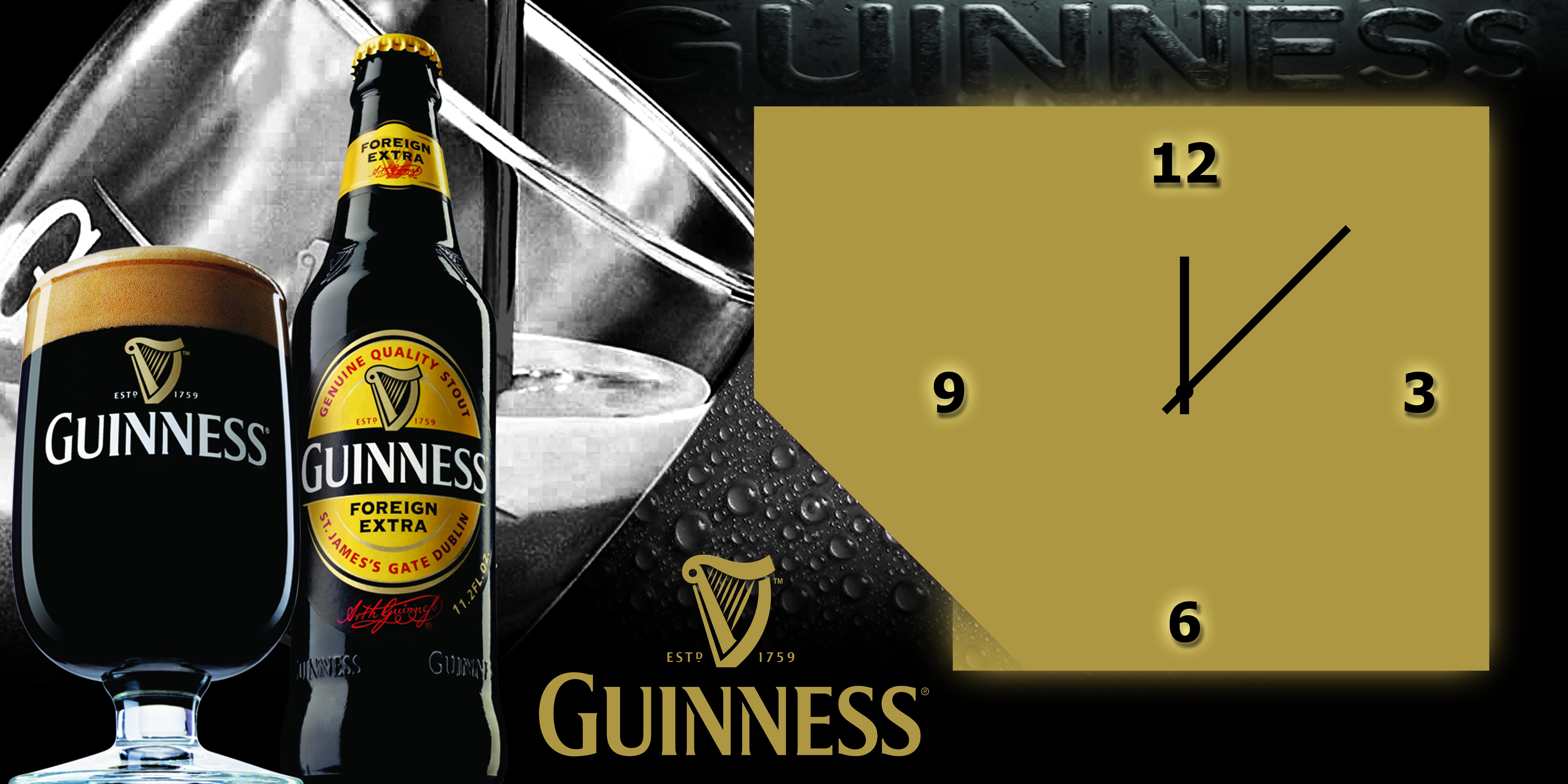 Guinness Clock Sticker Design