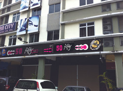 50 Fifty Pub Signboard