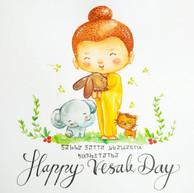 Happy Vesak Day Buddha
