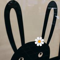 Black Bunny White Flower