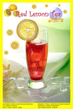 Red Lemon Tea Juice Poster