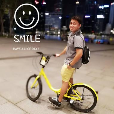 JAY CHUA Singer 蔡戔倡歌手 Smile Cycling