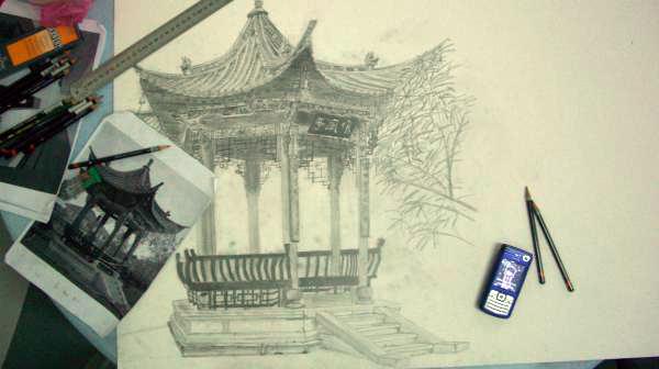 Garden (Pencil Drawing)