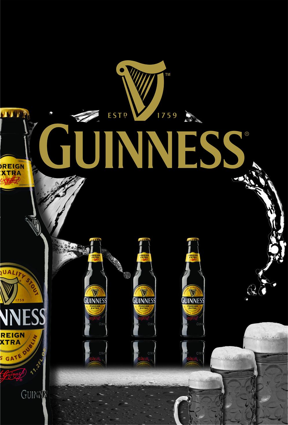 Guinness Wall Sticker Design