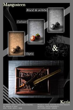 Mangosteen and Keris Studio Poster