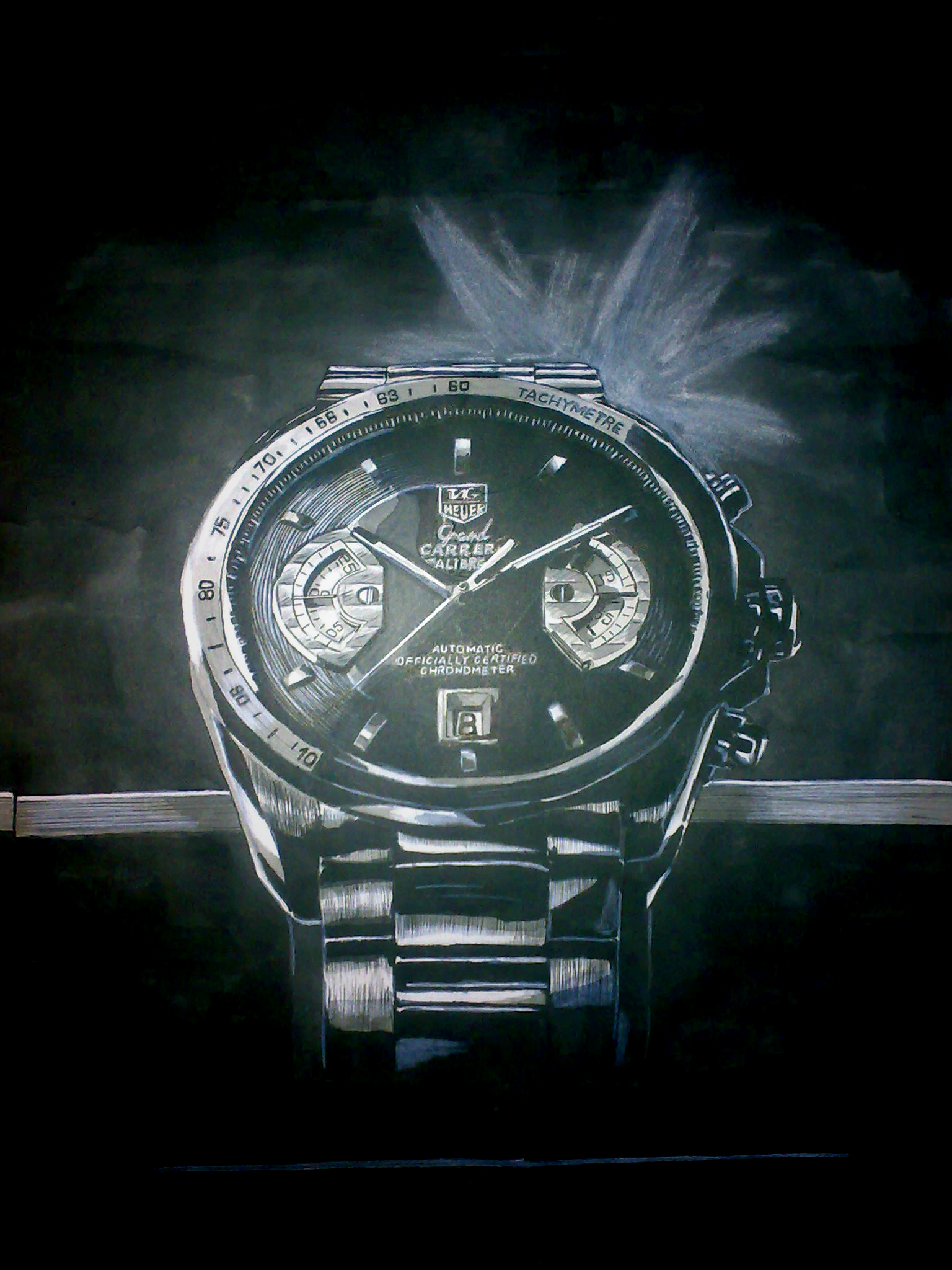 Watch (Grey Marker Drawing)