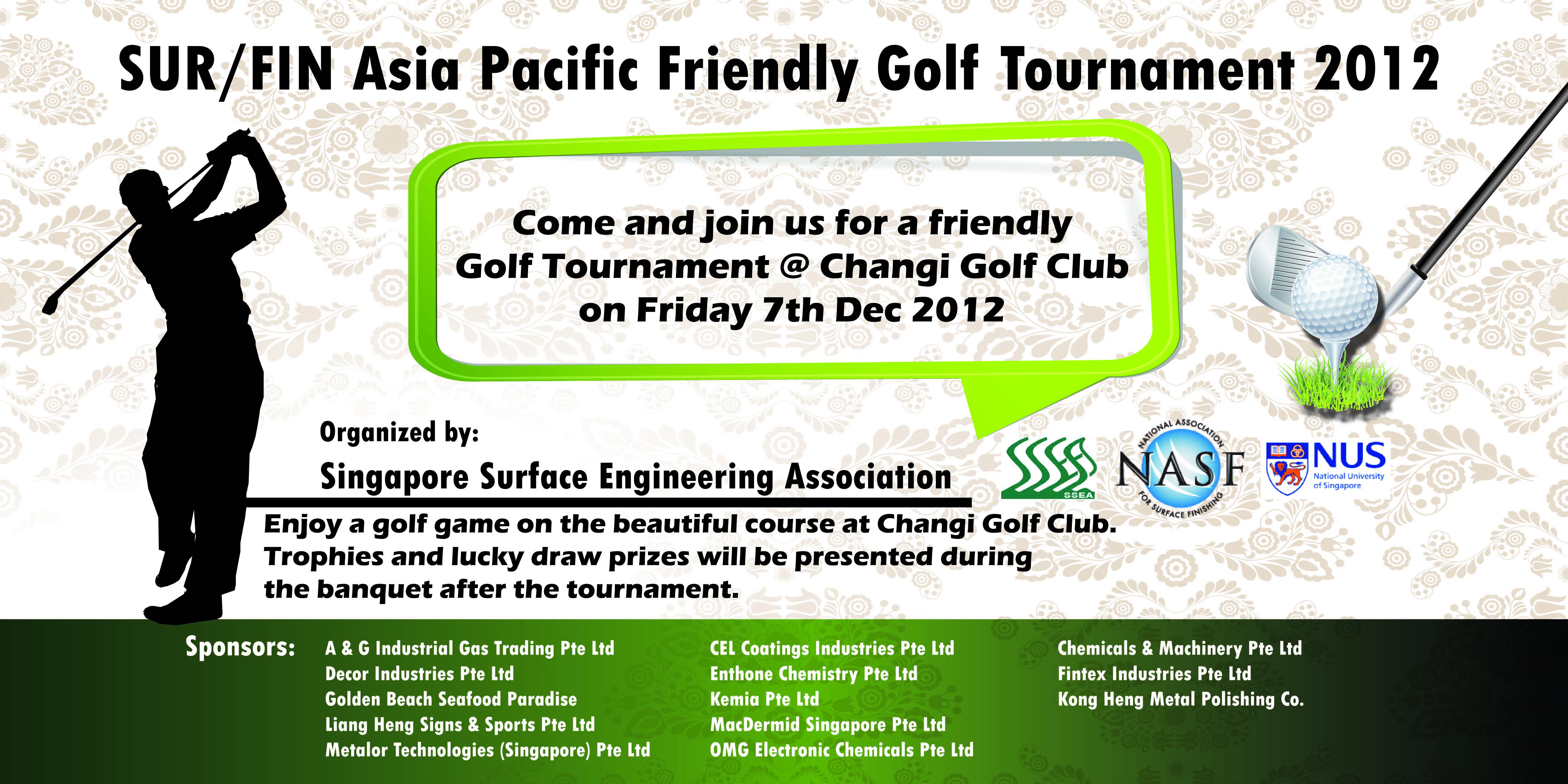 Golf Friendly Tournament 6x3ft banner