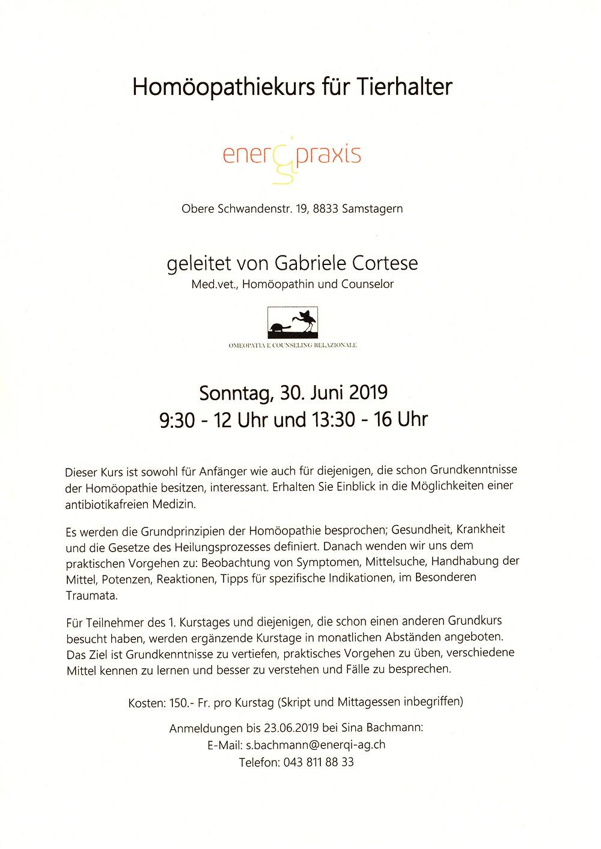 Am 30. Juni 2019 von 09:30 bis 12:00 Uhr und von 13:30 bis 16:00 Uhr. Mehr Details auf dem Flyer!