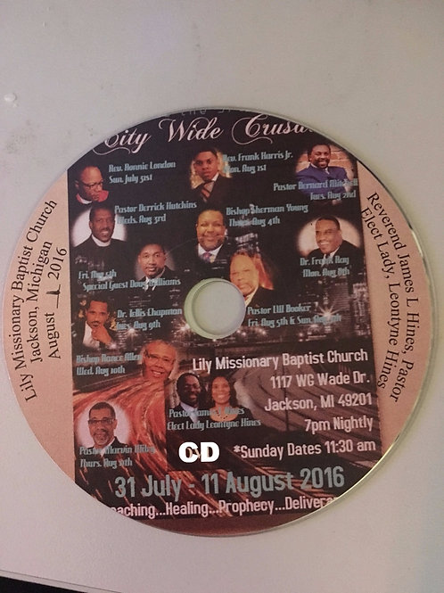 CD Version of the 3rd Annual City Wide Crusade