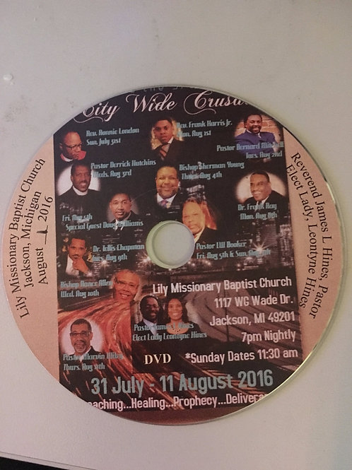 DVD  Version of the 3rd Annual City Wide Crusade