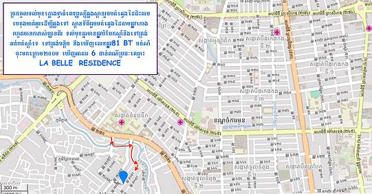 La Belle Residence - Phnom Penh Map