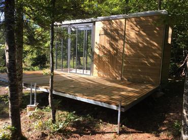 Cube cabane + terrasse