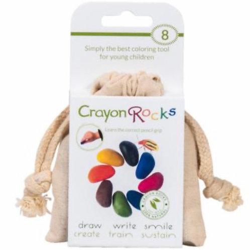 Crayons de cire - Pack de 8 couleurs+ 1 sac de coton