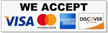 All Major Credit Cards & Debit Cards Are Accepted