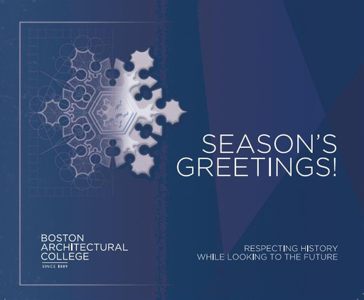 2018 Holiday Card  - Boston Architectural College