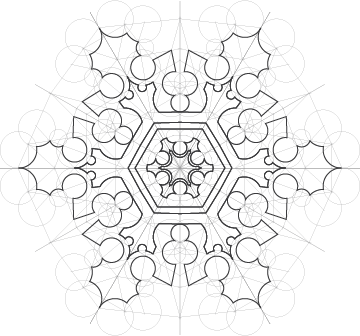Structure of a snowflakes