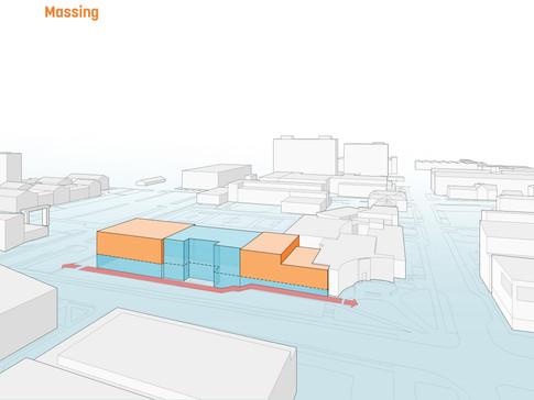 Massing Diagram - Development of the building mass