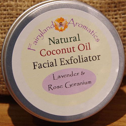 Coconut Oil Exfoliator: Lavender & Rose Geranium