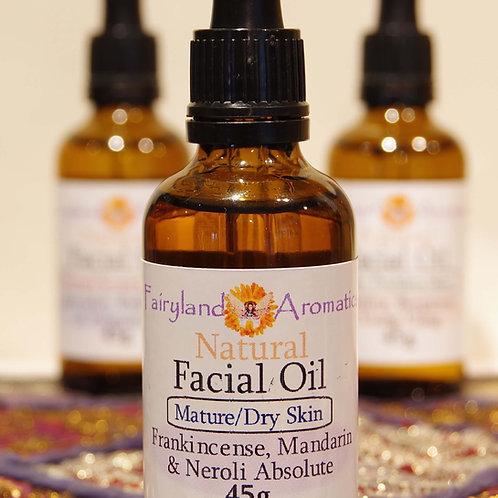 Facial Oil: Frankincense, Mandarin & Neroli