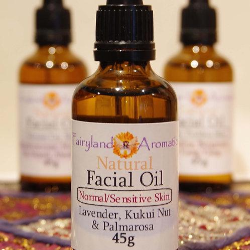 Facial Oil: Lavander, Kukui Nut & Palmarosa