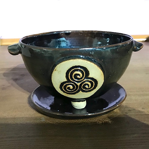 Two-Part Ceramic Incense Burner