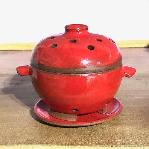 Three-Part Ceramic Incense Burner