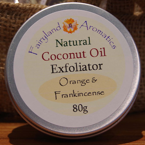 Coconut Oil Exfoliator: Orange & Frankincense
