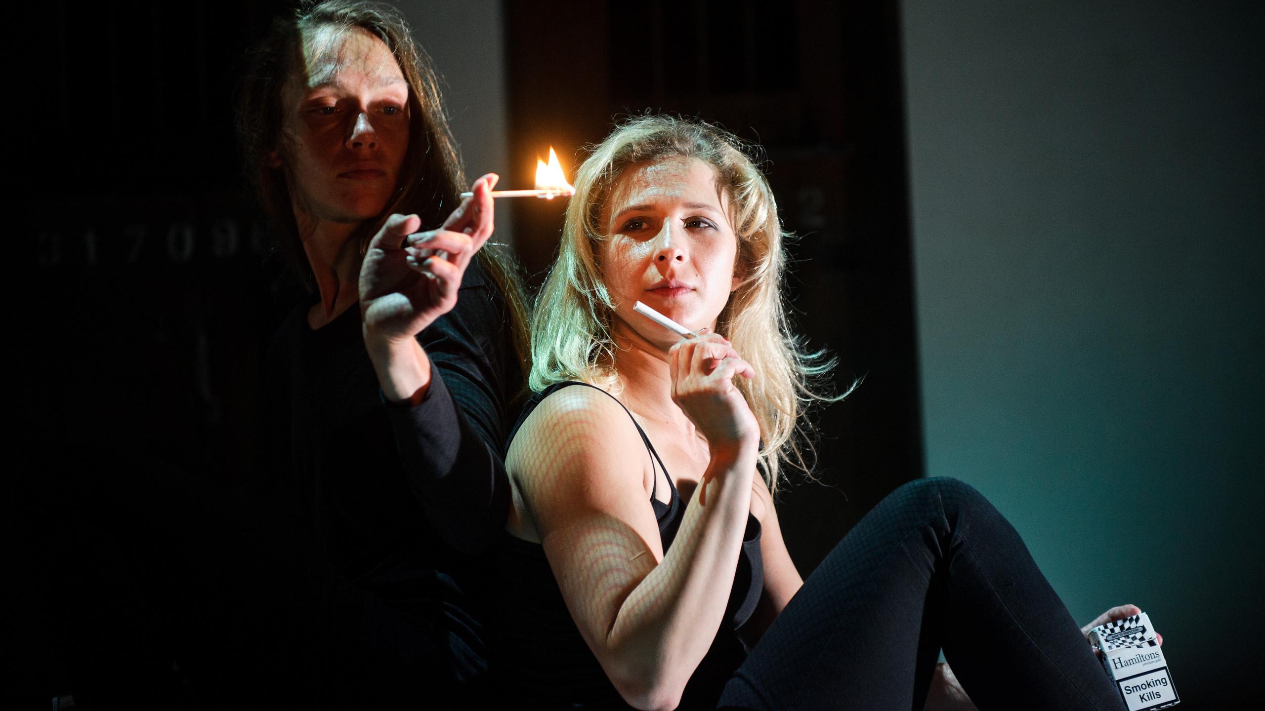 (c) Alex Brenner, Belarus Free Theatre - Burning Doors. Maryia Sazonava and Maria Alyokhina.