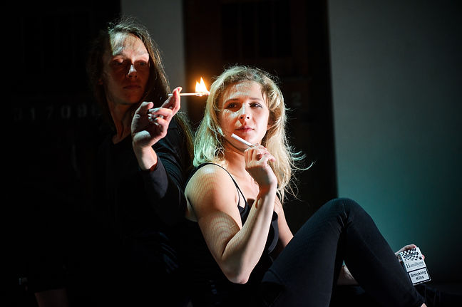 (c) Alex Brenner, Belarus Free Theatre - Burning Doors. Maryia Sazonava and Maria Alyokhina.