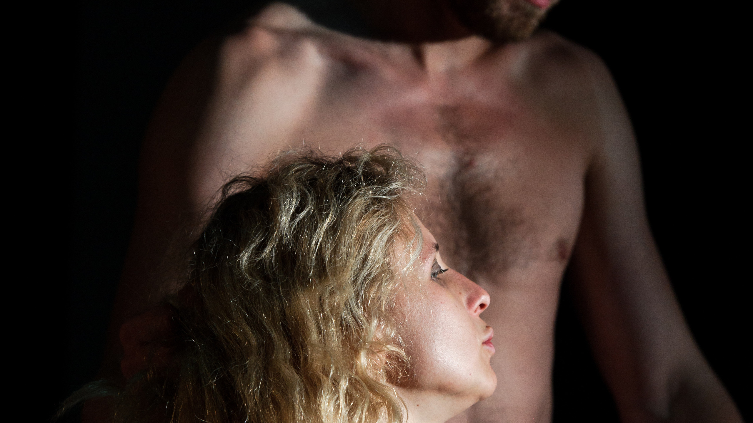 (c) Alex Brenner, Belarus Free Theatre - Burning Doors. Maria Alyokhina and Kiryl Kanstantsinau.