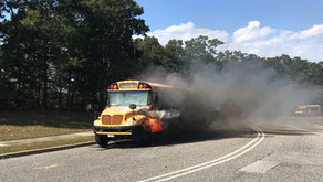 School Bus Fire at William Floyd Middle School