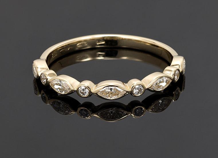 Inel din aur galben de 14k cu diamante de 0.41 ct.