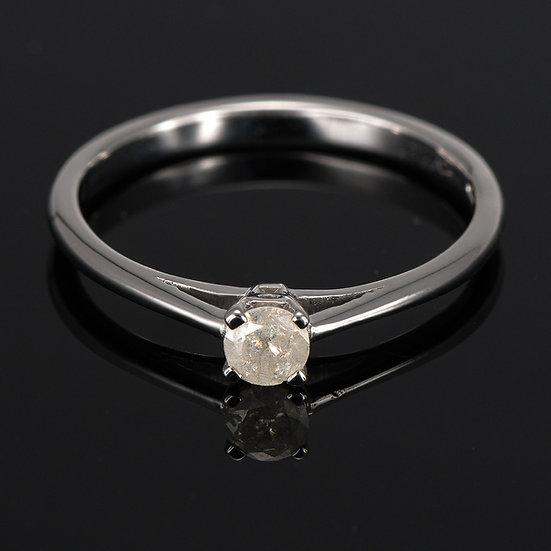 Inel din aur alb de 14k cu diamante ICE de 0.16 ct.