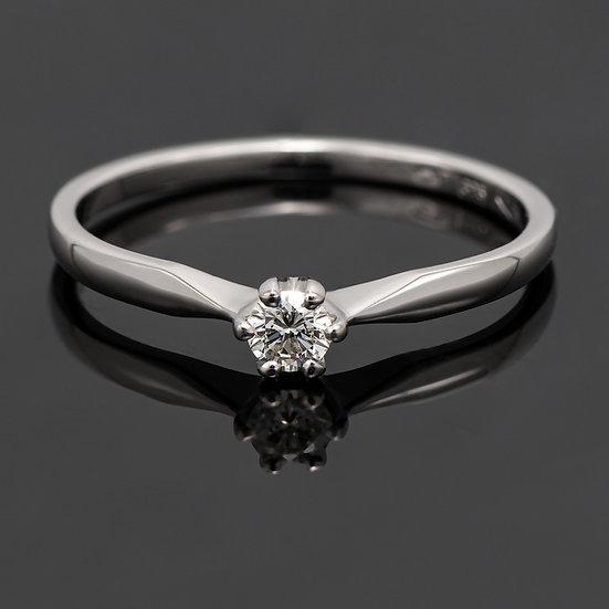 Inel din aur alb de 14k cu diamante de 0.09 ct.