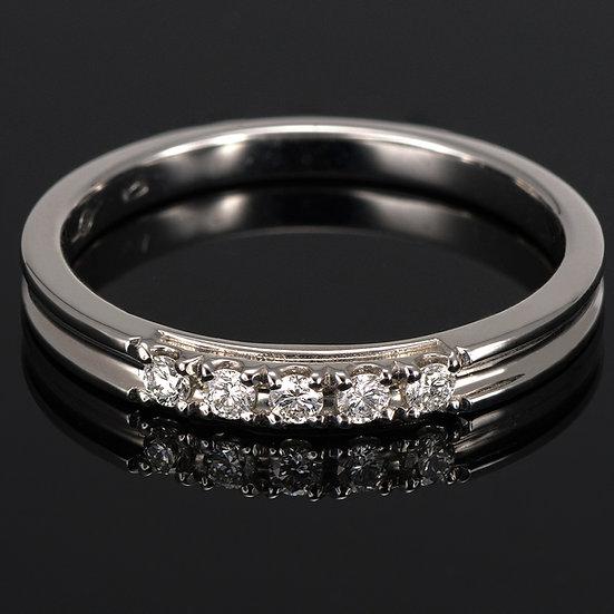 Inel din aur alb de 14k cu diamante de 0.11 ct.