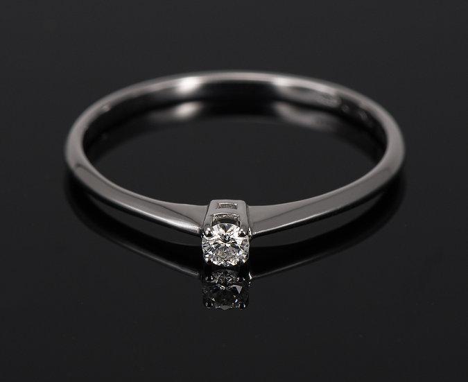 Inel din aur alb de 14k cu diamante de 0.06 ct.