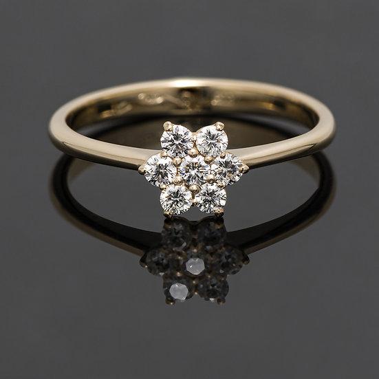 Inel din aur galben de 14k cu diamante de 0.23 ct.