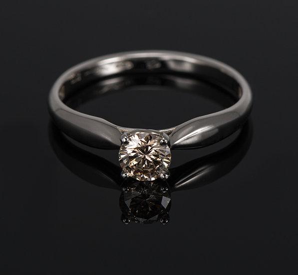 Inel din aur alb de 14k cu diamante de 0.38 ct.