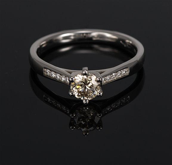 Inel din aur alb de 14k cu diamante de 0.48 ct.