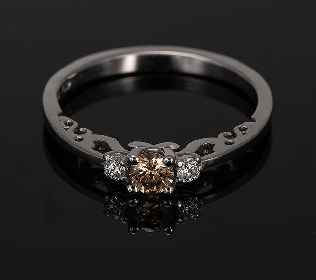 Inel din aur alb de 14k cu diamante de 0.23 ct.