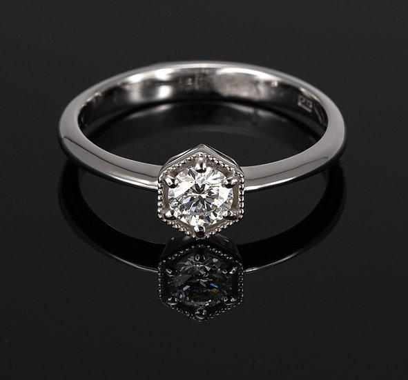 Inel din aur alb de 14k cu diamante de 0.23 ct