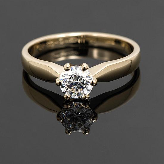 Inel din aur galben de 14k cu swarovski zirconia.
