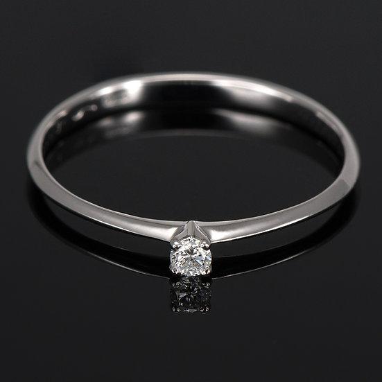 Inel din aur alb de 14k cu diamante de 0.04 ct.
