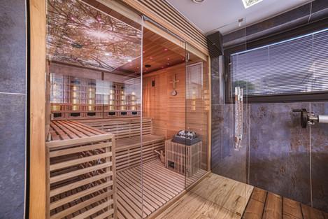 Kombinovaná fínska sauna s infrasaunou