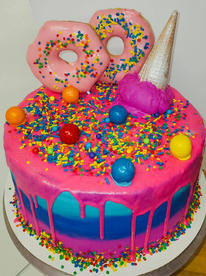 Ice cream and donut explosion