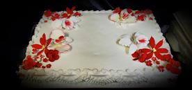 Classic flower cake