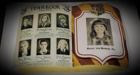 Hogwarts yearbook cake